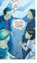 Leslie Dean (Earth-616) and Frank Dean (Earth-616) meeting Tina Minoru (Earth-616) and Robert Minoru (Earth-616) from Runaways Vol 1 13 001.jpg