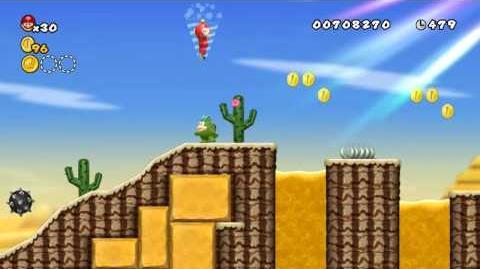 Newer Super Mario Bros. Wii World 2-5 Barrelband Wilds Star Coins and Secret Exit