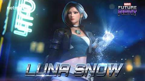 Part-time pop star, full-time Super Hero, Luna Snow has arrived in Marvel Future Fight!