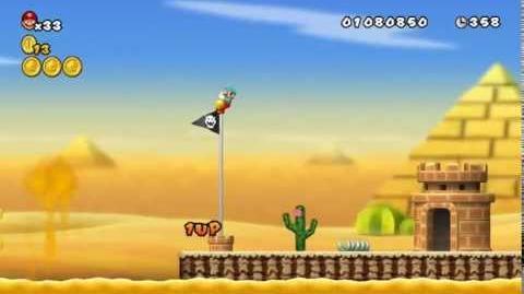 Newer Super Mario Bros Wii World 2-8 Searing Sands