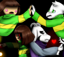 Asriel vs Chara (Battle)