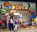 Pixar Pier attractions