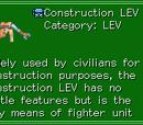 Construction LEV