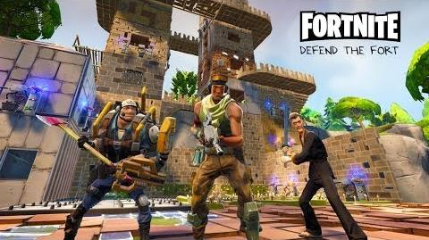 Defending the Fort - Fortnite Gameplay