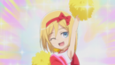 Christa cheers for her team.png