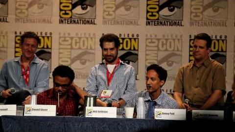 """Abed and Troy (Donald G. and Danny P.) """"La Biblioteca"""" rap - Comic-Con, Community Panel, SDCC 2010"""