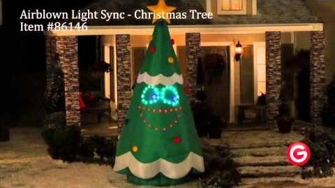 Gemmy Airblown® Inflatable LightSync™ - 86146 - Singing LightSync Christmas Tree