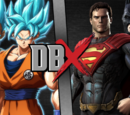 Goku and Vegeta vs Superman and Batman