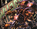 Anthony Stark (Earth-616), Bruce Banner (Earth-616), Iron Man Armor Model 26 MK I, Iron Man Armor Model 26 MK II from Incredible Hulk Vol 2 72 001.PNG