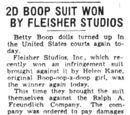 2D Boop Suit Won by Fleischer Studios