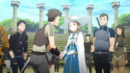 Yuna shaking hands with a group of players in Tolbana - OS.png