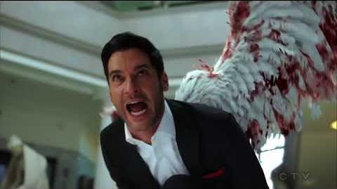 Lucifer S03E24 HD Ending Scene Lucifer Fight Using his Wings