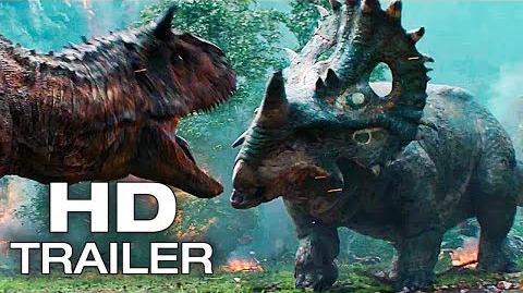 JURASSIC WORLD 2 Dinosaurs Fight Scene Trailer NEW (2018) Chris Pratt Dinosaur Movie HD