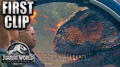 First Clip T-Rex vs. Carnotaurus Jurassic World Fallen Kingdom HD Chris Pratt, Dinosaurs movie