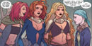 Goddesses of Thunder (Earth-14412) and Jane Foster (Earth-616) from Mighty Thor At the Gates of Valhalla Vol 1 1 001.jpg