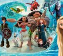 Rise of the Epic Big Brave Tangled Frozen Moana Dragons