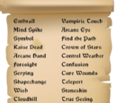 Puzzle - Spell List