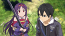 Yuuki asking Kirito for permission to fight after her Heroine Event HR DLC2.png