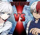 Weiss VS Todoroki