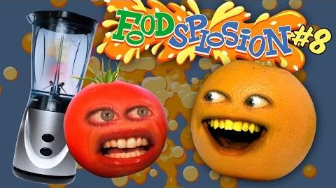 Annoying Orange: FOODSPLOSION 8: Tomato vs Blender