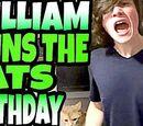 WIILLIAM RUINS THE CAT'S BIRTHDAY!!!