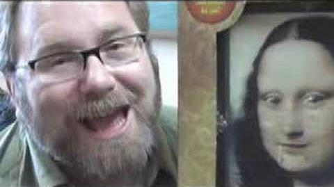 FAIL Mona Lisa Pop Out Painting Hilarious Toy Review Michael Mozart of JeepersMedia