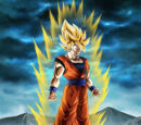 Boiling Power Super Saiyan Goku