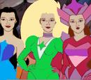 Samantha, Rosemonde and Phoebe