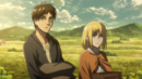 Eren and Historia carry supplies on the farm.png